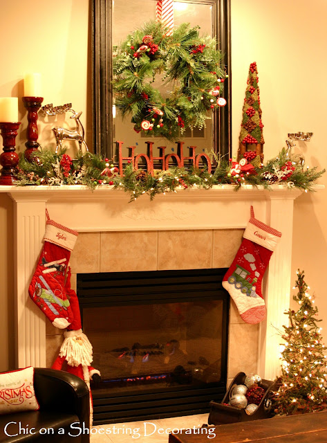 christmas decor mantel