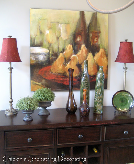 Dining Room Buffet Ideas: Chic On A Shoestring Decorating: Dining Room Buffet Revisited