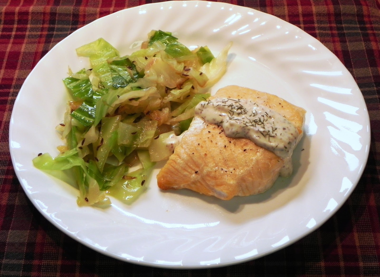 The Iowa Housewife Salmon With Sour Cream Mustard Topping