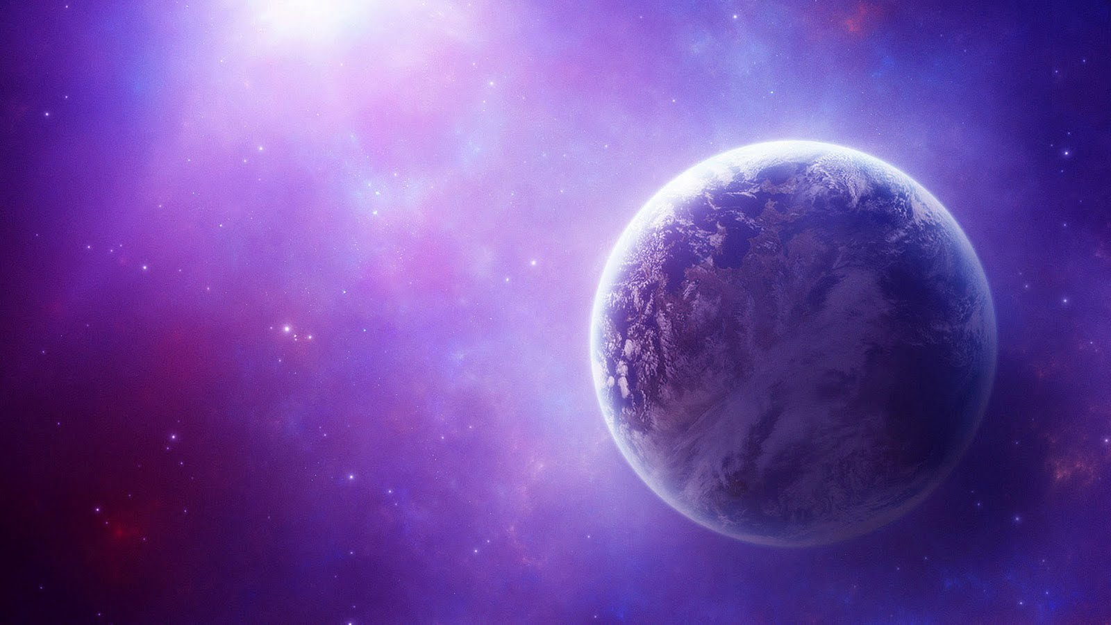 Earth Purple Solar System Purple Background Wallpapers ...