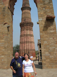 Minarete de Qutab Minar, Nueva Delhi, New Delhi, India, vuelta al mundo, round the world, La vuelta al mundo de Asun y Ricardo