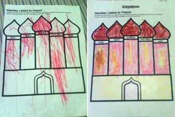 Mewarnai Masjid Keke Naima