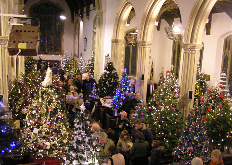 50 Christmas Trees In A Church Dickleburgh 2010