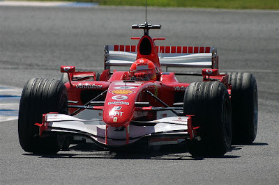 Photograph of Michael Schumacher's Ferrari