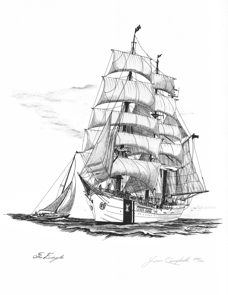 Skipjack S Nautical Living Marine Artist Jim Campbell
