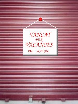 Resultado de imagen de TANCAT PER VACANCES DE NADAL