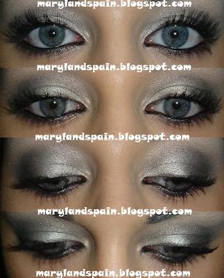 Look degradado en platas/grises/negros-567-makeupbymariland