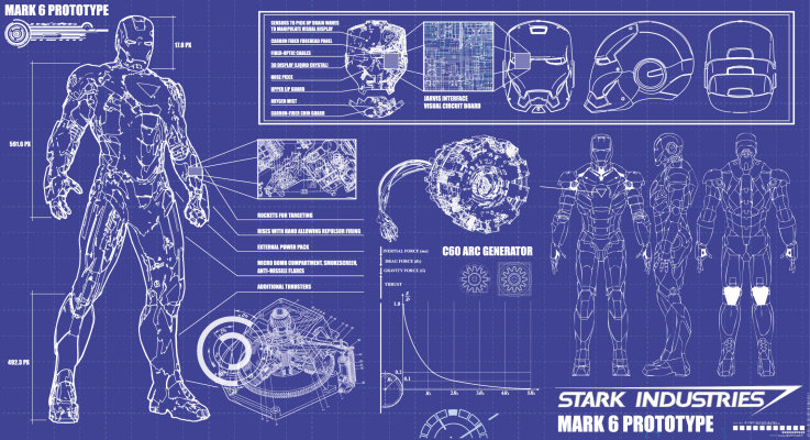 Blueprint of Iron Man Suit http\/\/1bpblogspot\/_-994oh1oDts - free lined paper to print