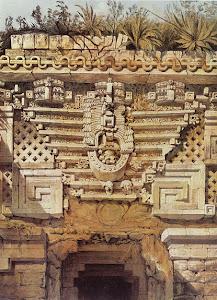 Lámina 9: Ornament, Casa del Gobernador, Uxmal