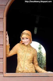 Zaskia Kebaya Muslim kuning Kebaya- Muslim Fashion