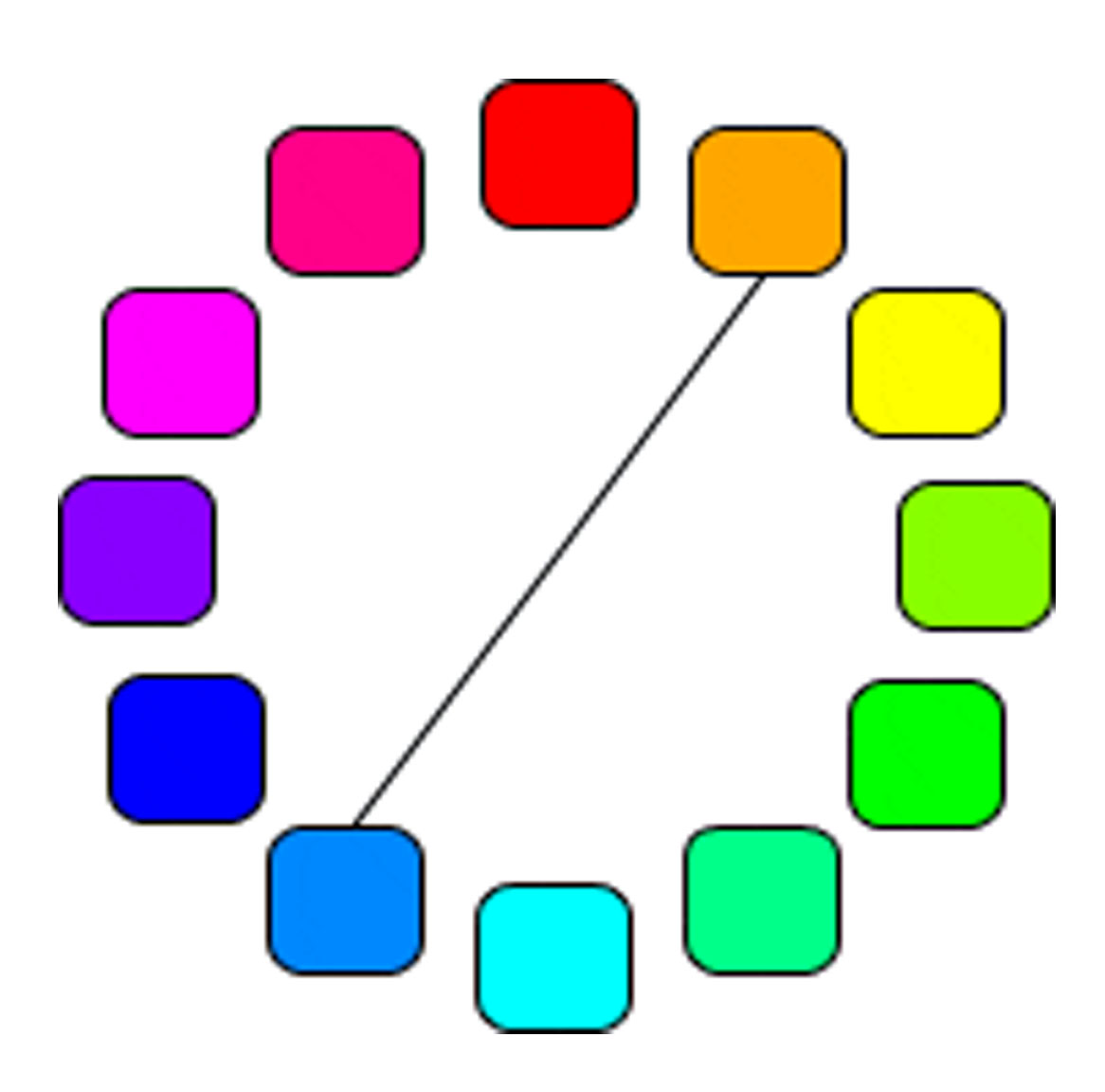 Colour Wheel This Looks Best When You Take A Warm Against Cool For Example Red Versus Green Blue Scheme Is Intrinsically