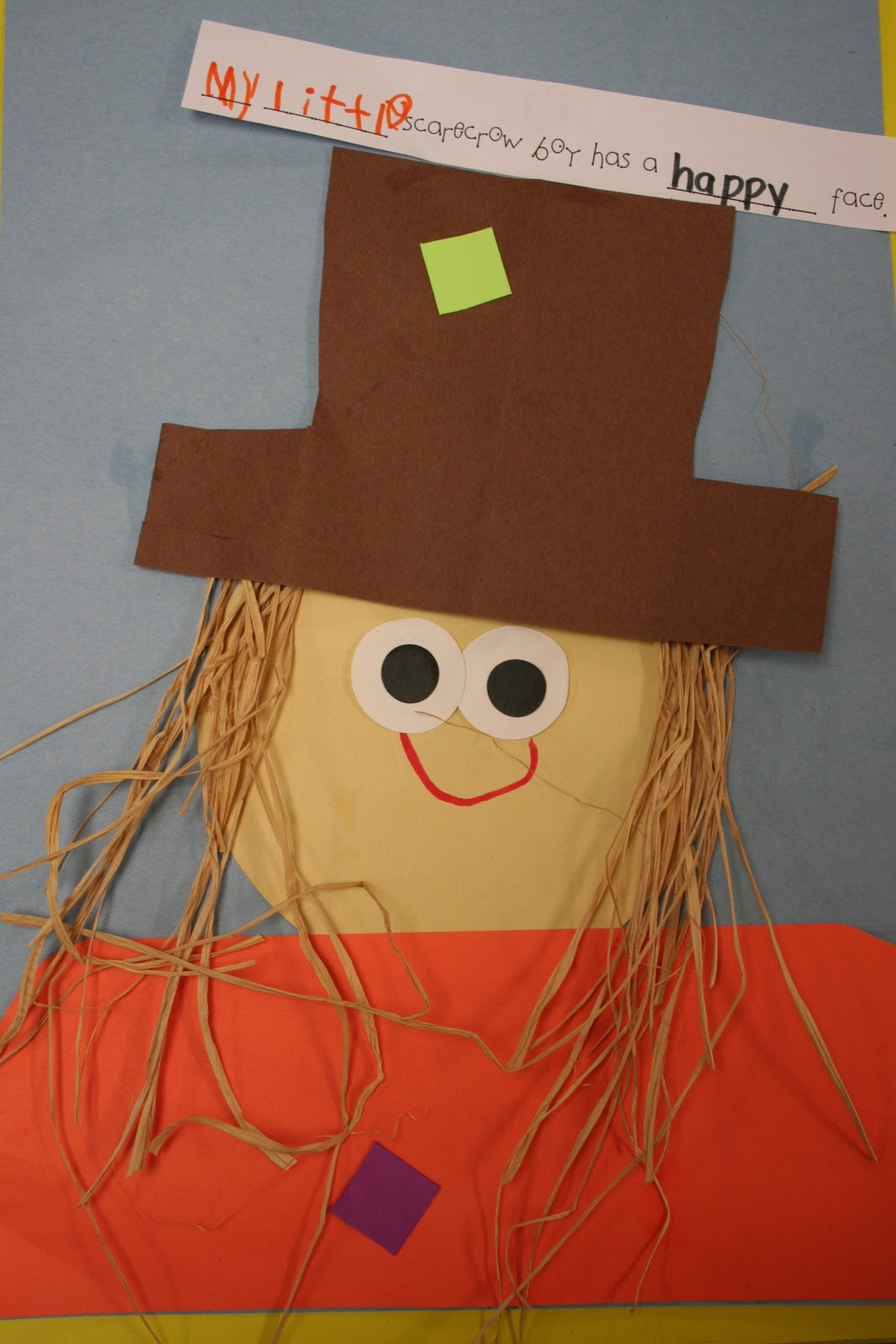 Mrs Lee S Kindergarten Scarecrows
