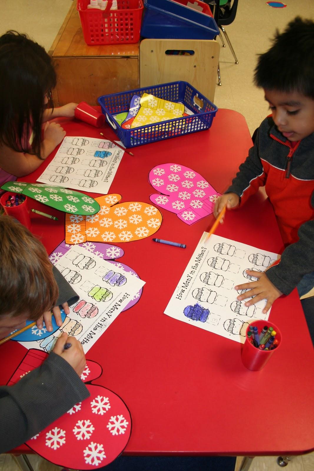 Mrs Lee S Kindergarten Mitten Activities