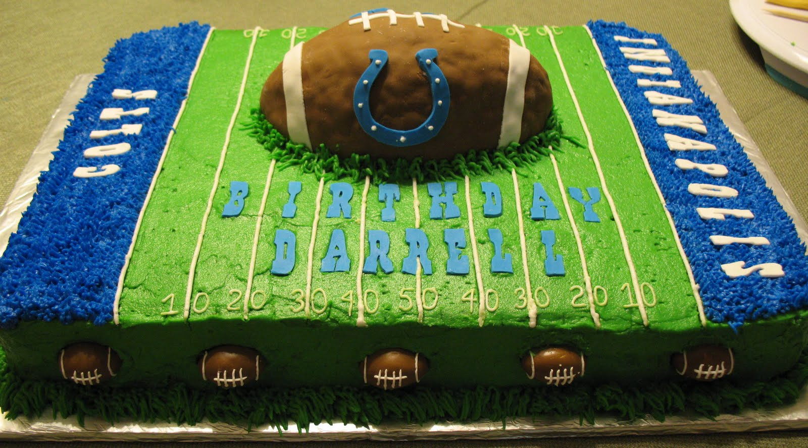 J S Cakes Colts Football Cake
