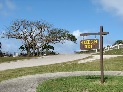 Suicide Cliff Sign