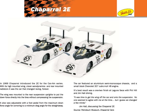 Chaparral 2e slot car : Keno 13 11