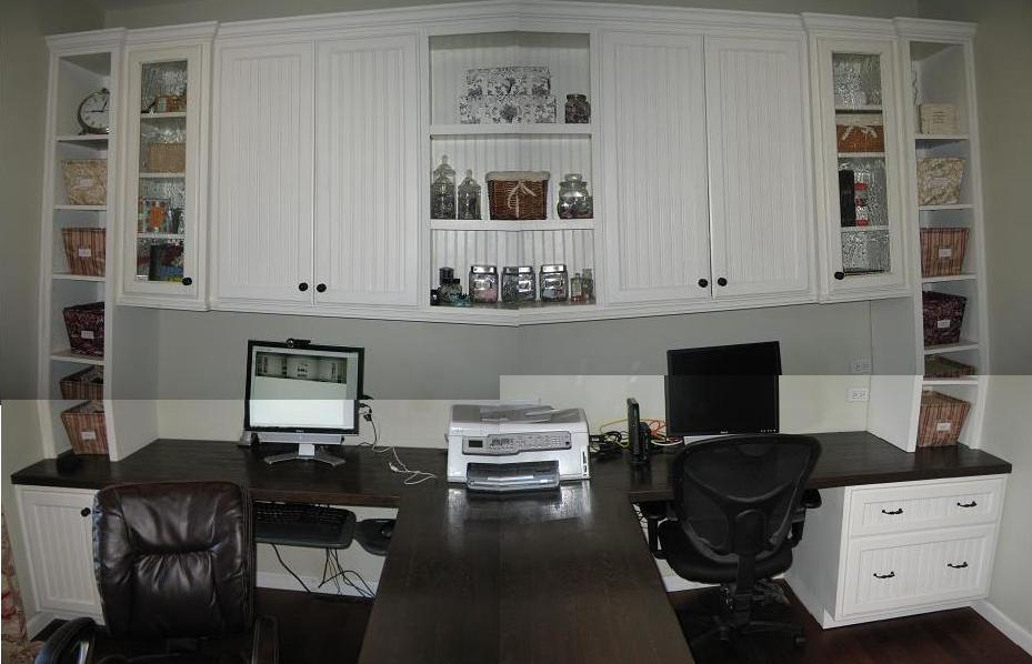 Remodelaholic   Beautiful Custom Built-in Home Office