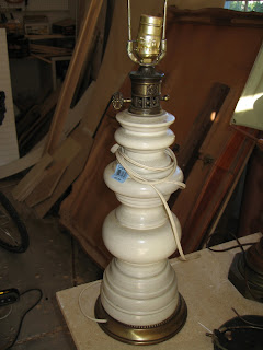 2- old lamps (Goodwill  $3.99 and $1.99)