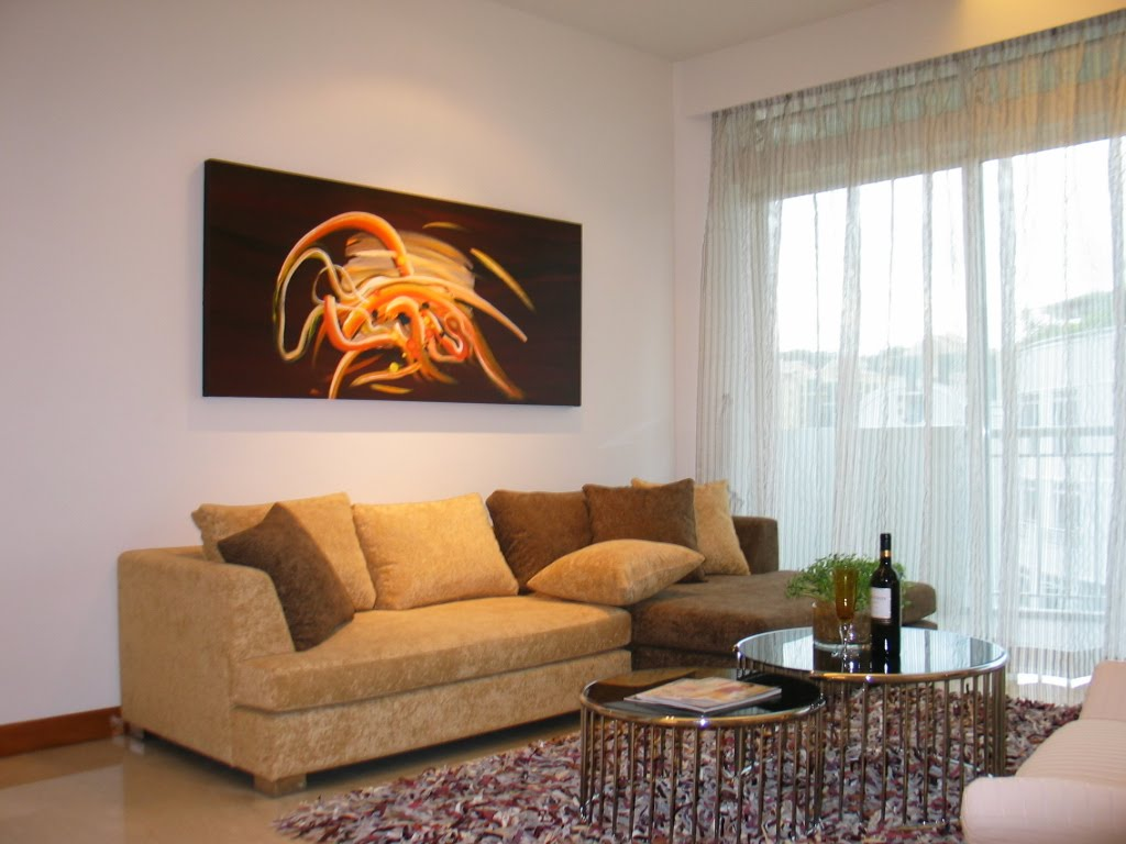 sofa paintings abstract modern recliner uk art in living room