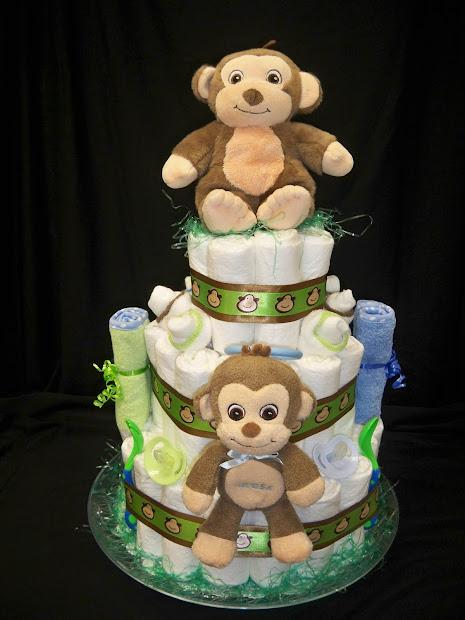 Lena' Creations Monkey Diaper Cake