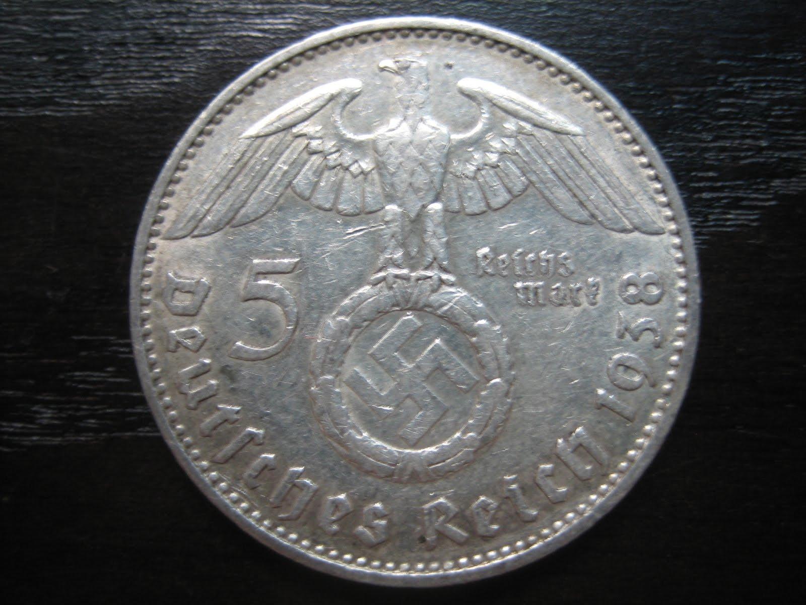 Numismatic Collection 1938 Third Reich Silver Reichmark
