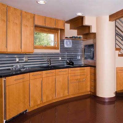 Kitchen Backsplash Metal Accents