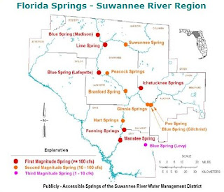 Publically Accessible Springs of the Suwannee River