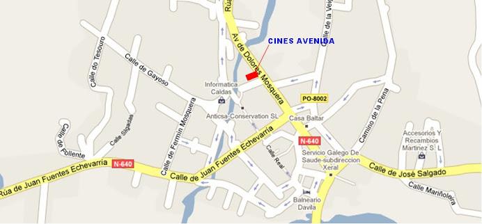 Caldas De Reis Mapa.Cines Avenida 3d Carteleira Caldas De Reis