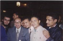 مع أستاذي في مجمع الخالدين