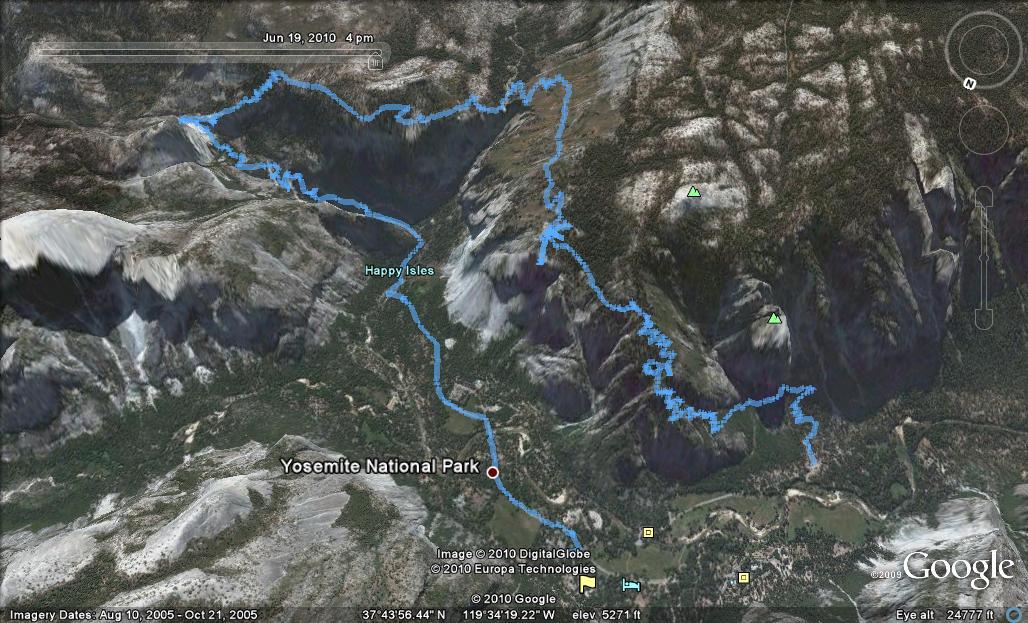 Dan S Hiking Log Yosemite Four Mile Trail Panoramic