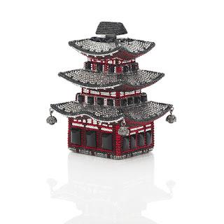 Judith Leiber Pagoda Minaudière and Cupcake Keyfob