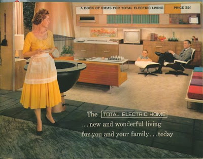 The future 39 s so bright inside the 1950s total electric home the thrift shop romantic - Westinghouse and living ...