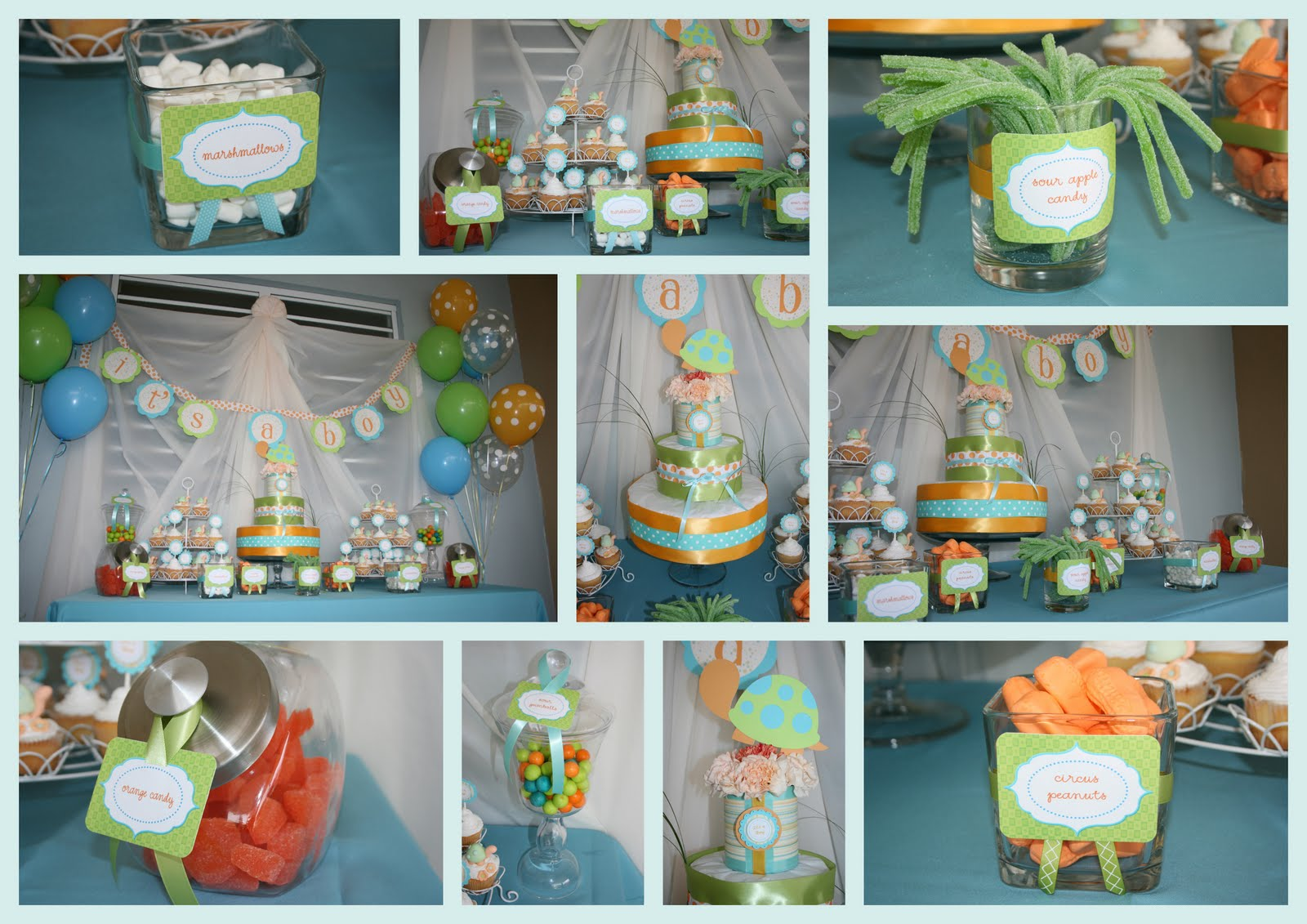 Partylicious Events PR: Turtle Baby Shower
