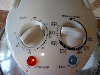 The Dials on the Halogen Oven