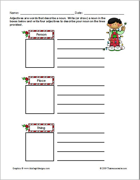 that resource site christmas themed worksheets to make grammar phonics and math festive fun. Black Bedroom Furniture Sets. Home Design Ideas