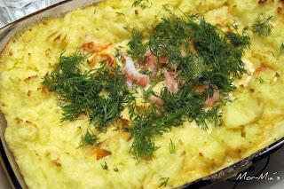 fiskgratäng torsk räkor potatismos