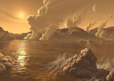 Banjir besar, gunung menjadi debu, planet bertaburan