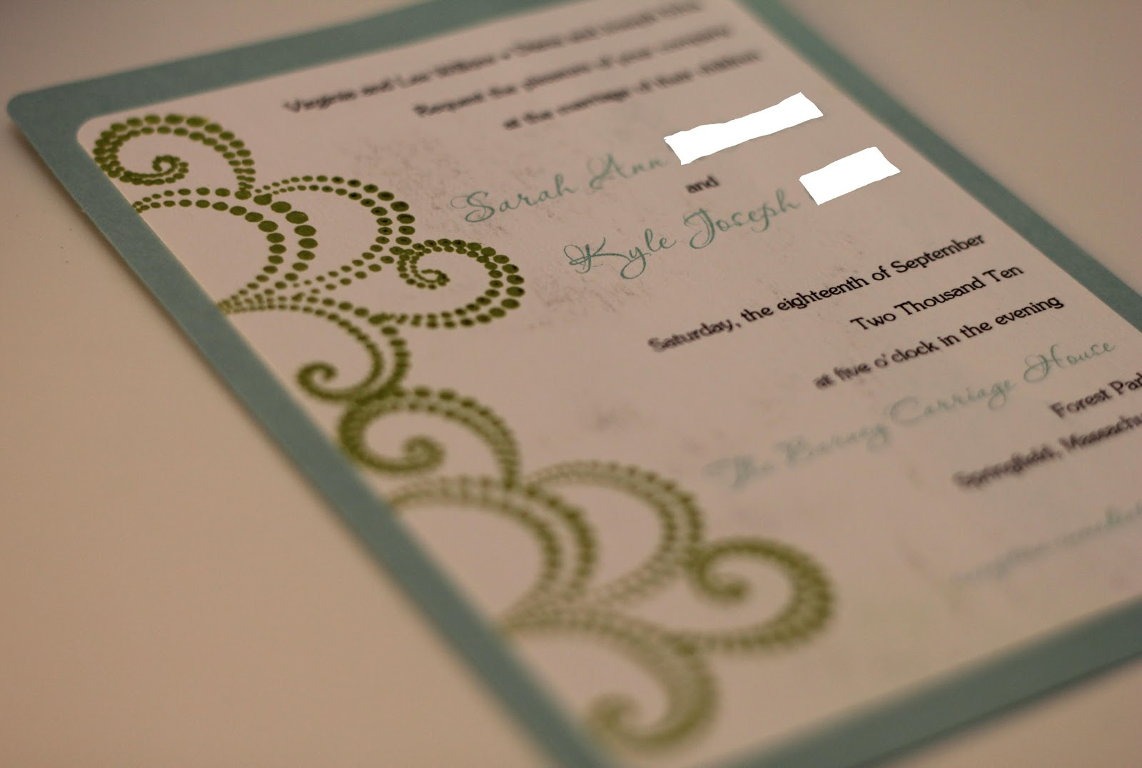 Parts Of Wedding Invitation: Dill Pickle Design: Wedding Invitations