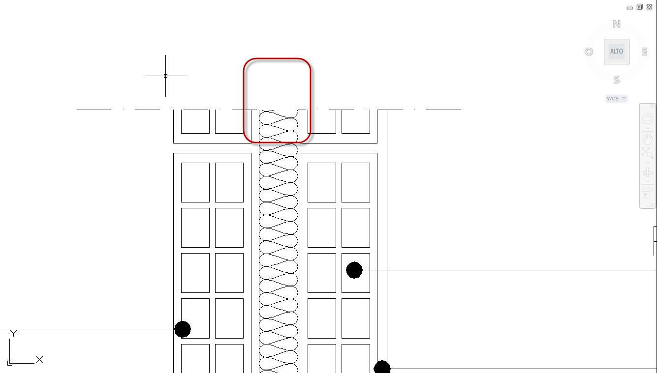 Blocco isolante dwg terminali antivento per stufe a pellet for Parete attrezzata dwg
