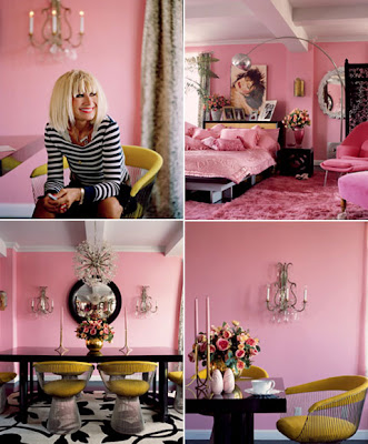 Betsy Johnson's House of Pink :  betsy johnson pink home decor interiors