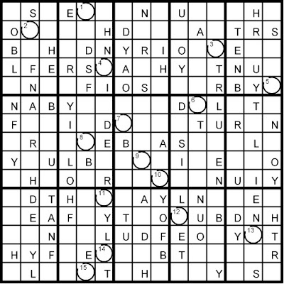 Magic Word Square: New Word Sudoku Puzzles for Tuesday, 6