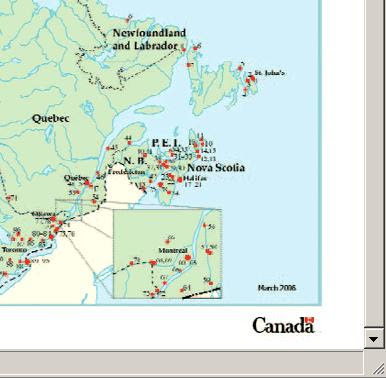 Figure 11: The 154 National Historic Sites of Canada Administered by Parks Canada