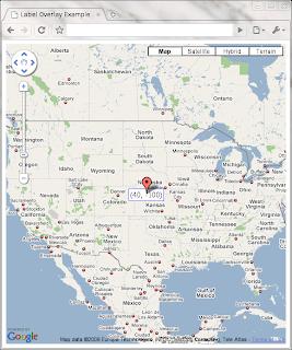 Label overlay example for Google Maps API v3   Marc Ridey - Blog