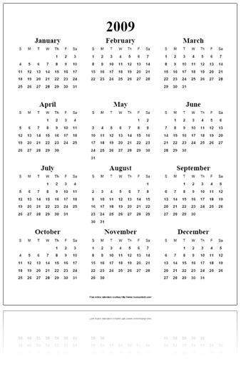 Entre Tantas Besteiras...: Calendários de 2009 para imprimir