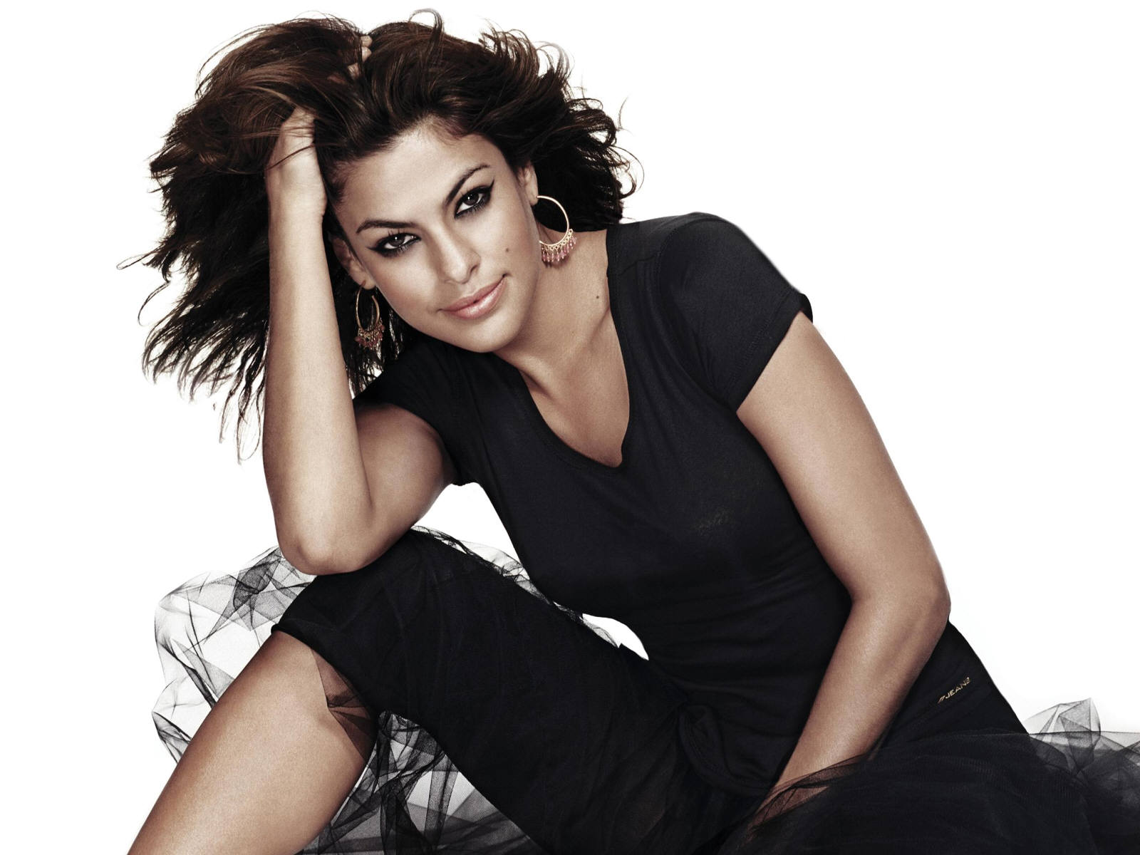 Hollywood Stars Sexy Wallpapers: Eva Mendes sexy Wallpaper ...