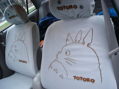 happy monkey thinking totoro seat covers. Black Bedroom Furniture Sets. Home Design Ideas