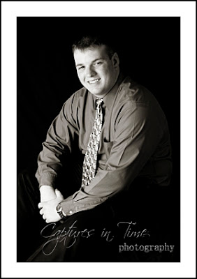 Kansas City Senior Photographer senior boy black & white