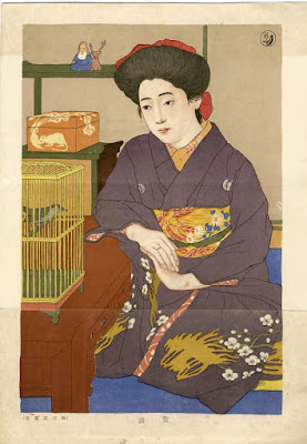 Hashiguchi Goyo. A Japanese print of a woman. Good drawing by Hashiguchi Goyo. © Copyright 1998-2014