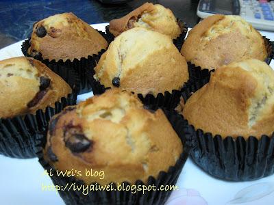 My story~: Homemade Chocolate Chips Walnut Muffin