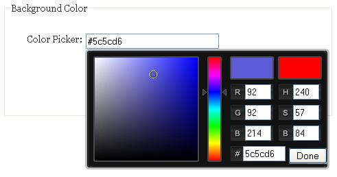 jQuery Colour Picker